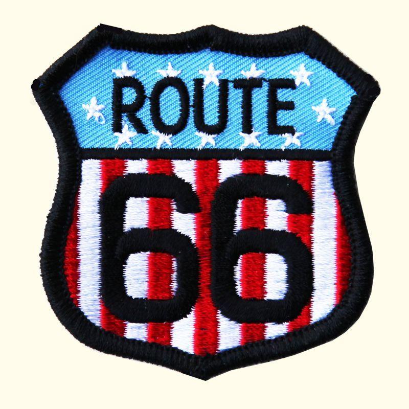 画像1: ワッペン ルート66 星条旗/Patch Route 66