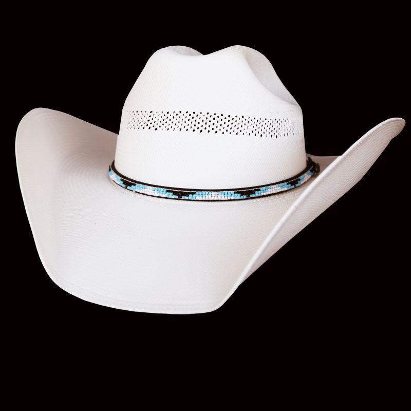 画像1: ベイリー 15X ストローハット(ビーズハットバンド・アイボリー)/Straw Hat(Ivory) (1)