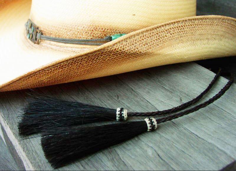 画像3: ホースヘアー スタンピード ストリングス ブラック(ハット用あごひも)/Horse Hair Stampede Strings
