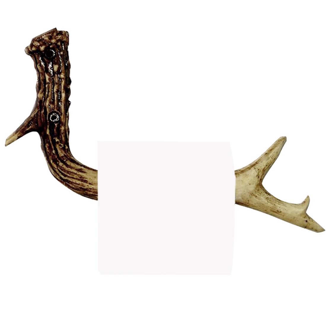 画像1: 鹿の角 トイレットペーパー ホルダー/Antler Tissue Holder (1)