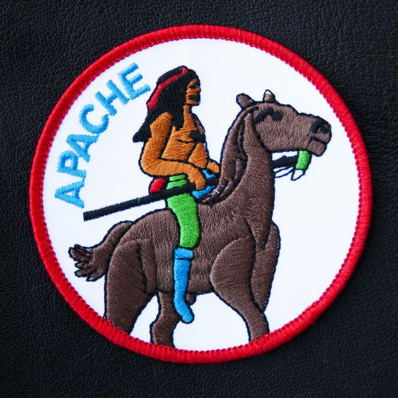 画像1: ワッペン インディアン アパッチ族/Patch APACHE