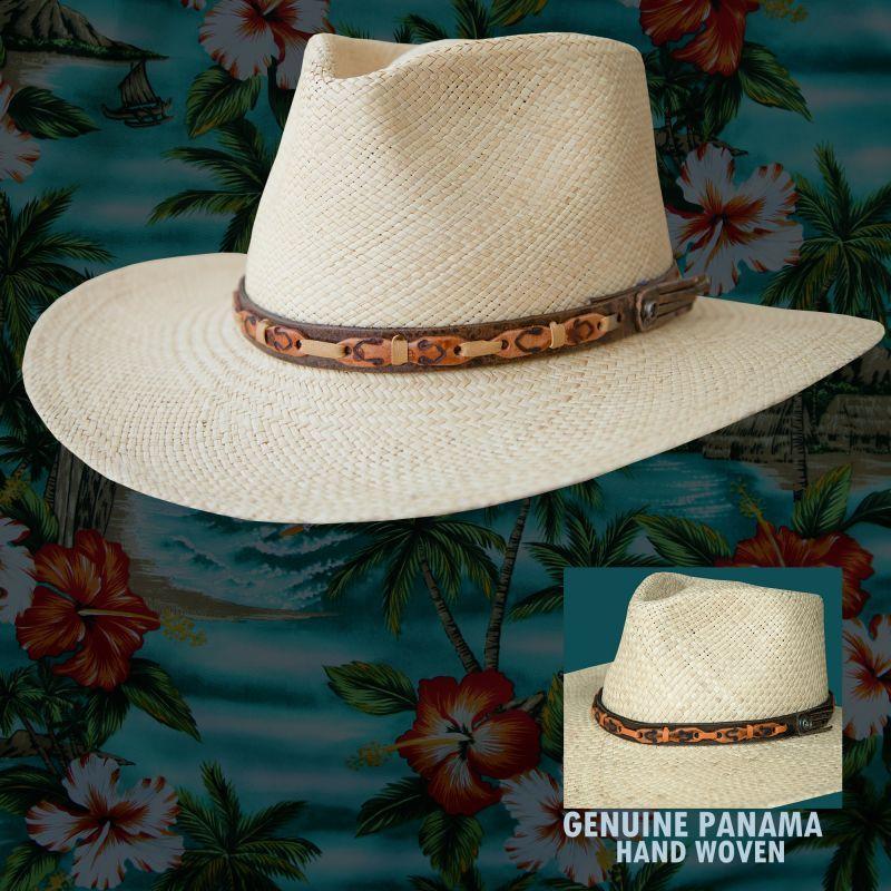 画像1: パナマ リゾート ストローハット(ナチュラル)/Outdoor Straw Hat