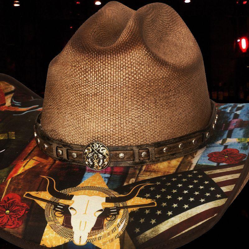 画像2: ブルハイド ウェスタン ストローハット(アイニードアドリンク)/BULLHIDE Western Straw Hat I need a drink(Pecan)