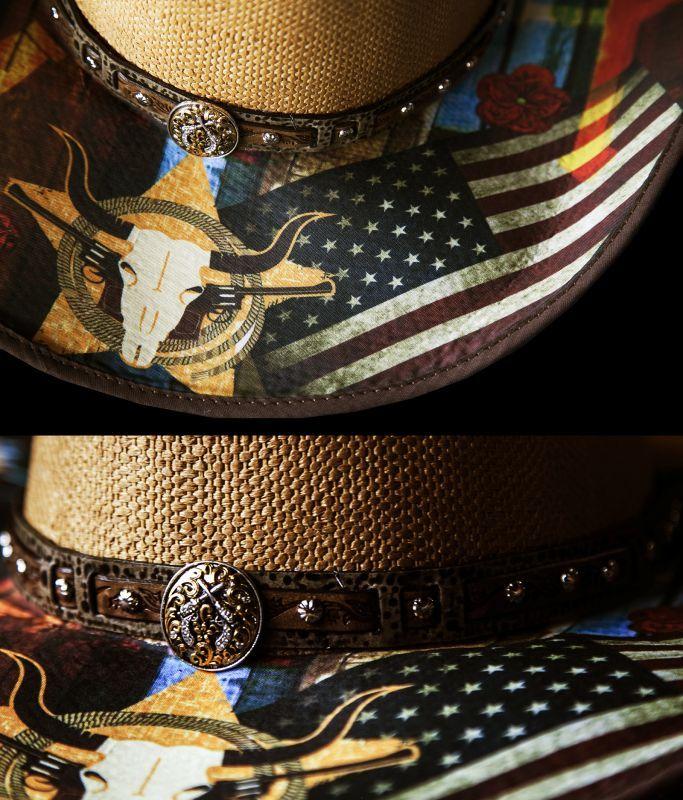 画像3: ブルハイド ウェスタン ストローハット(アイニードアドリンク)/BULLHIDE Western Straw Hat I need a drink(Pecan)