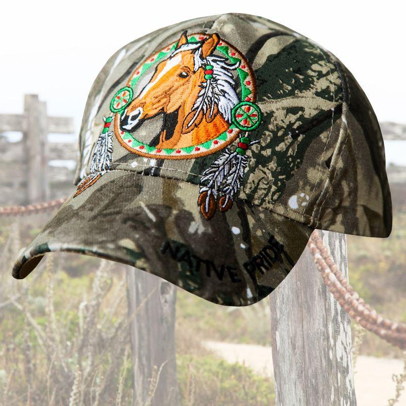 画像1: ネイティブプライド カモ ホース 刺繍キャップ/Baseball Cap (1)