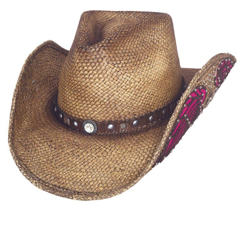 画像1: ブルハイド ハンドウーブンパナマ ウエスタン ストローハット(ウエスタンインスピレーション)/BULLHIDE Western Straw Hat Western Inspiration (1)