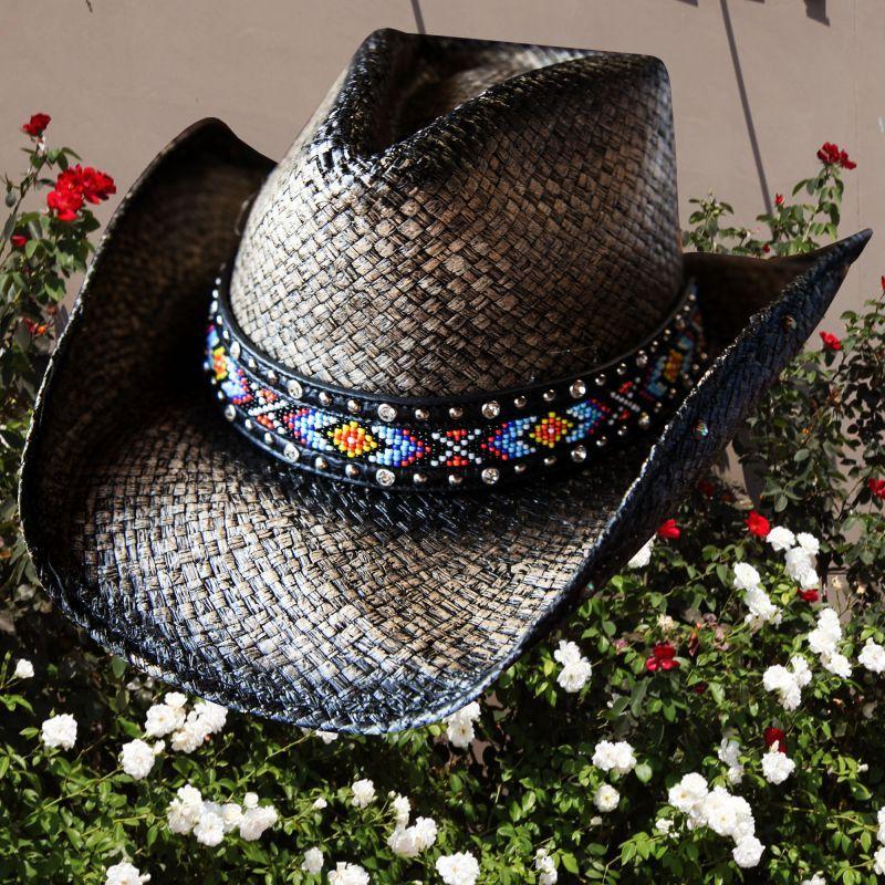 画像1: ブルハイド ウエスタン ストローハット(ラブマイセルフ)/BULLHIDE Western Straw Hat Love Myself