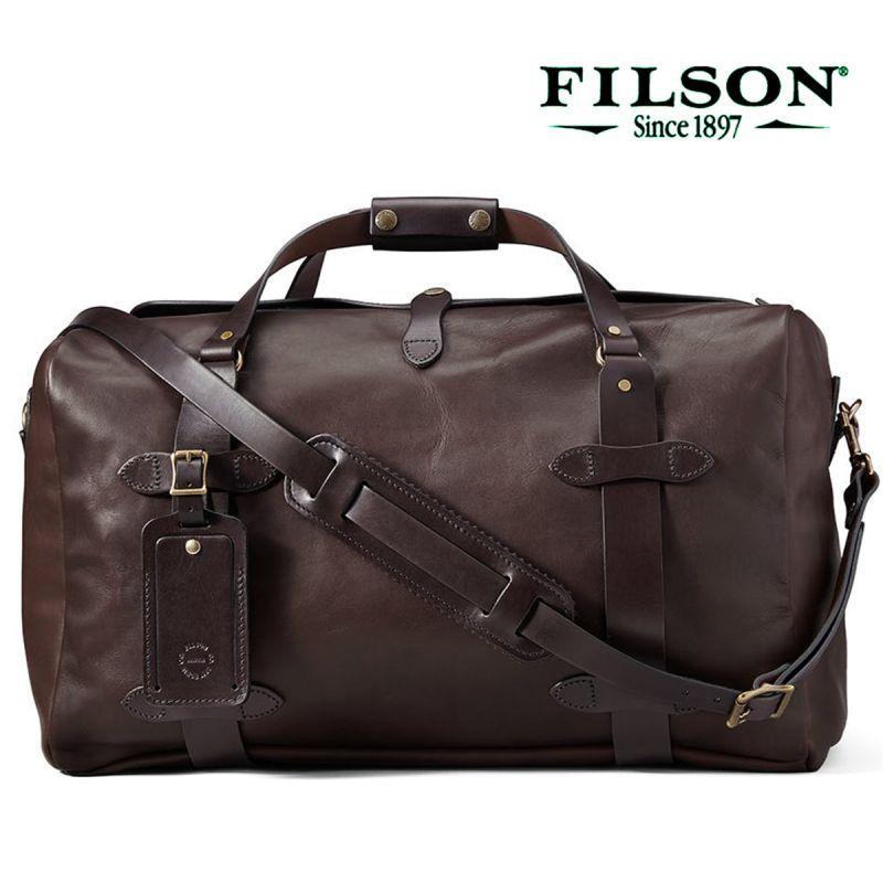 画像1: フィルソン ウェザープルーフ レザー ダッフルバッグ・ミディアム(シエラブラウン)/Filson Medium Weatherproof Leather Duffle(Sierra Brown)