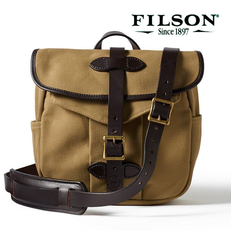 画像1: フィルソン スモール ショルダー バッグ(タン)/Filson Small Field Bag (1)