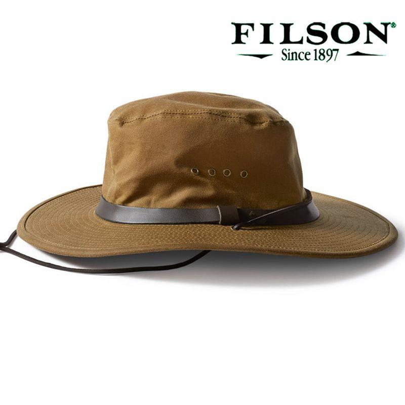 画像1: フィルソン オイルフィニッシュ ブッシュ ハット/Filson Tin Bush Hat(Tan) (1)