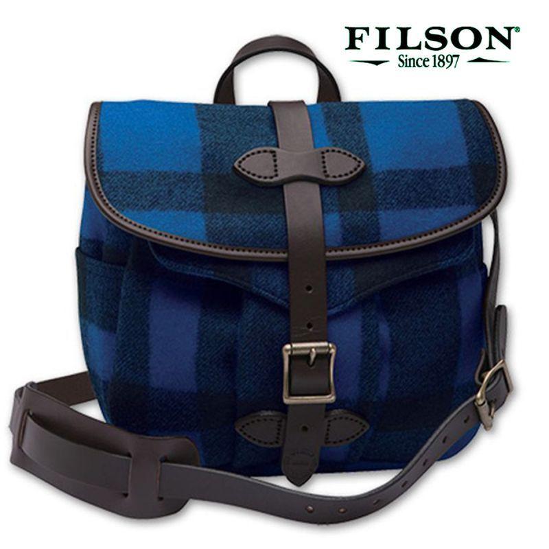 画像1: フィルソン マッキーノ スモール フィールドバッグ(ブルー×ブラック)/Filson Mackinaw Small Field Bag(Blue×Black) (1)