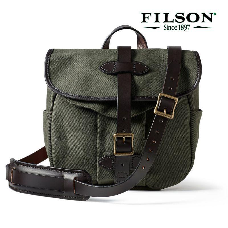 画像1: フィルソン スモール ショルダー バッグ(オッターグリーン)/Filson Small Field Bag (1)