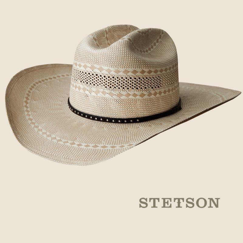 画像1: ステットソン ウエスタン ストロー ハット 57cm/Stetson Western Straw Hat