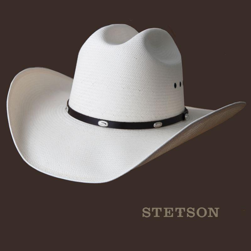 画像1: ステットソン カウボーイ ストローハット・大きいサイズ62cm/Stetson Western Straw Hat