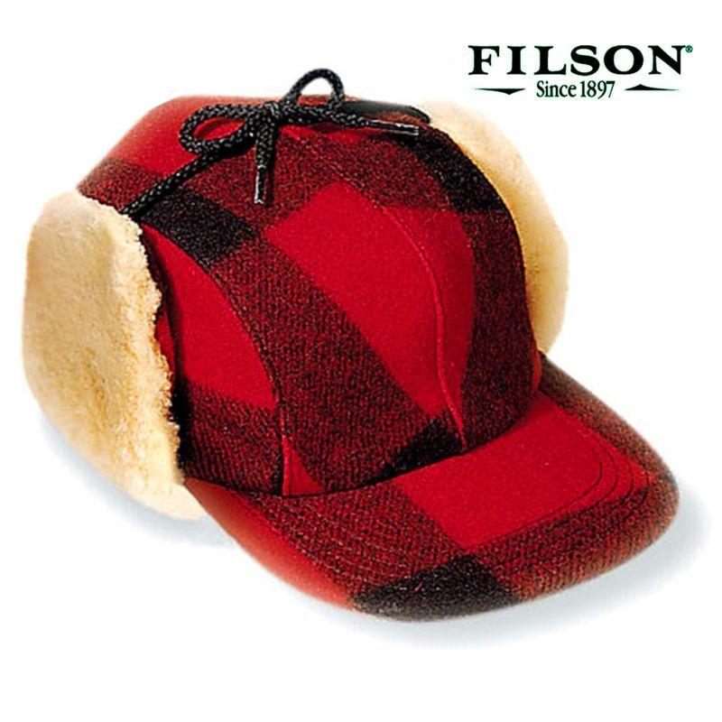 画像1: フィルソン ダブルマッキーノ キャップ(レッド×ブラック)/Filson Double Mackinaw Cap(Red×Black)