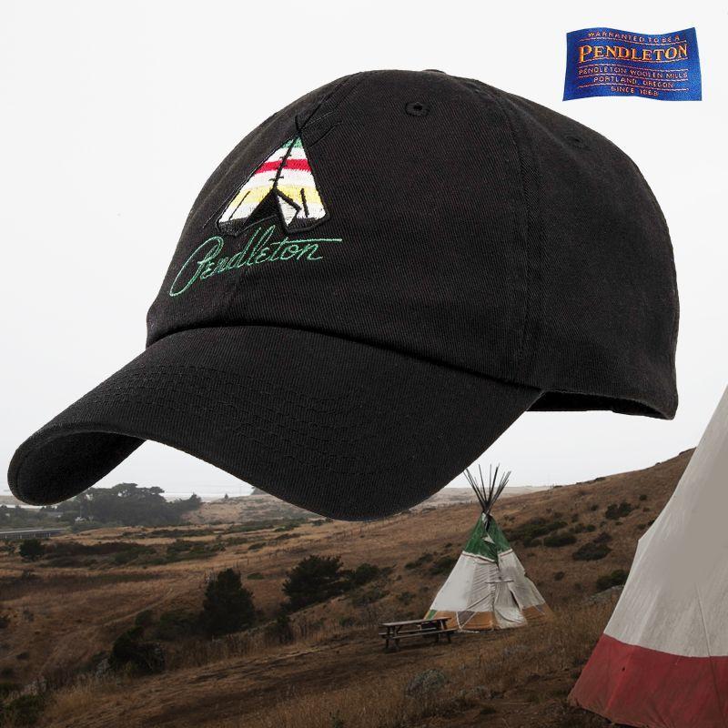 画像1: ペンドルトン ティーピー ナショナルパーク 刺繍 キャップ(ブラック・グレイシャー)/Pendleton Tepee National Park Cap(Black Glacier)