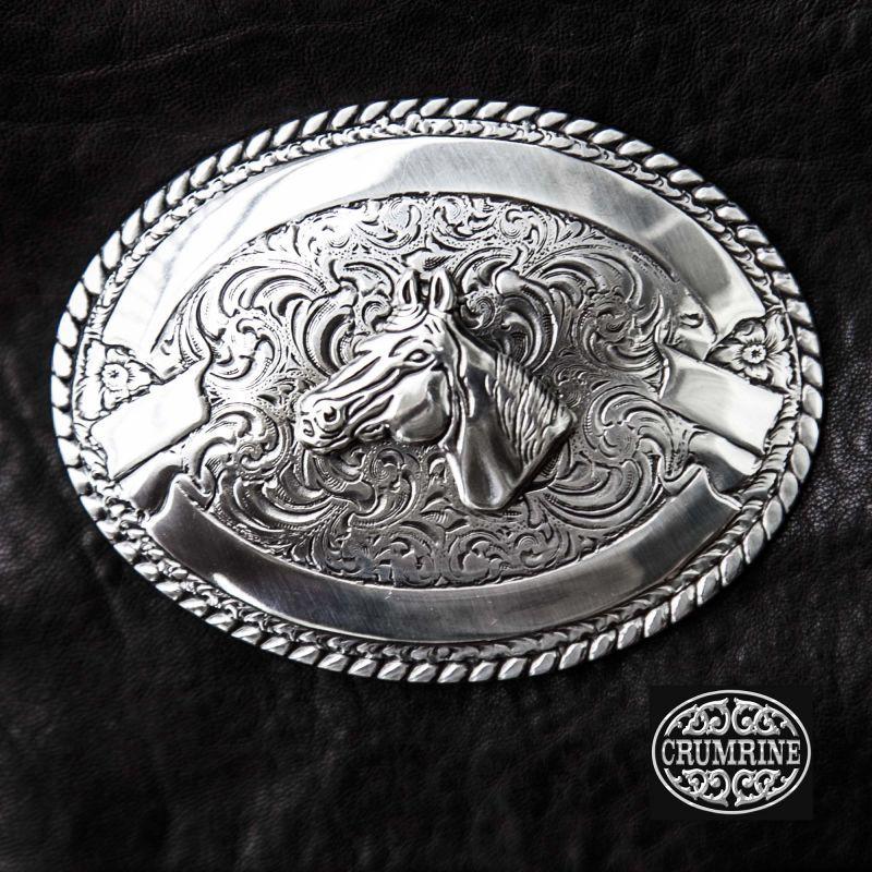 画像1: クラムライン ベルト バックル ホースヘッド/Crumrine Belt Buckle Horse Head