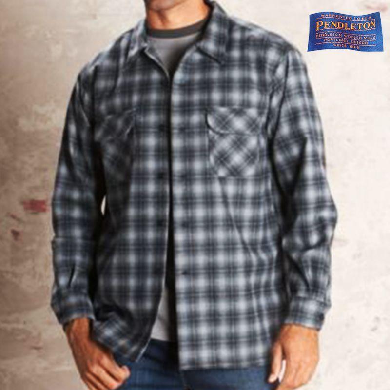 画像1: ペンドルトン ウールシャツ ボードシャツ チャコールオンブレXS/Pendleton Board Shirt