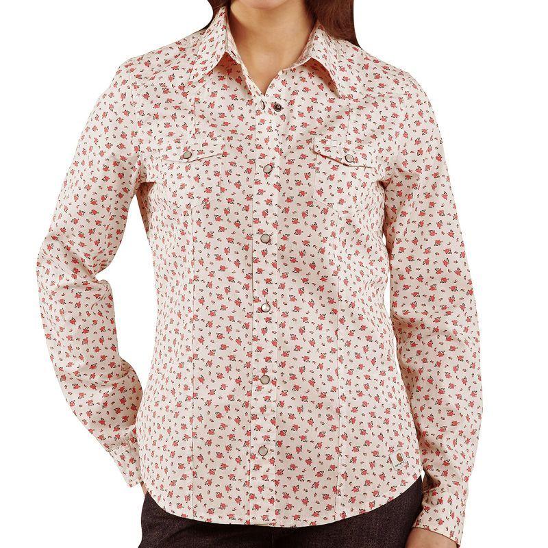 画像1: カーハート ウエスタン シャツ フローラル・シャーベット(長袖・レディース)/Long Sleeve Western Shirt(Women's)