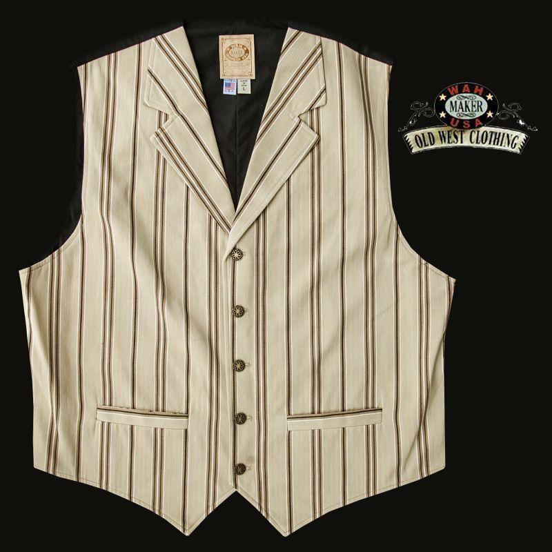 画像1: ワーメーカー フロンティア ベスト(タン)L/Wah Maker Old West Vest (Tan)