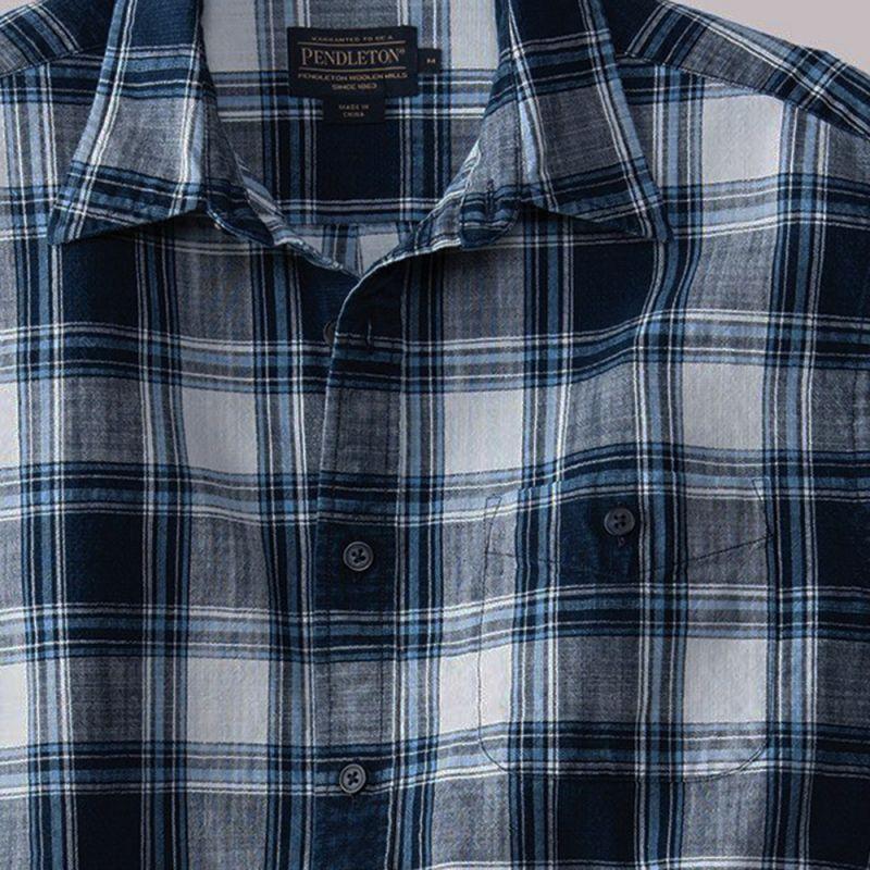 画像2: ペンドルトン プレストン インディゴ プラッド シャツ(長袖)/Pendleton Preston Indigo Plaid Shirt