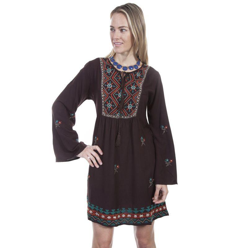 画像1: ボヘミアン トラディショナル刺繍 ワンピースS/Bohemian traditional embroidered dress(Women's)