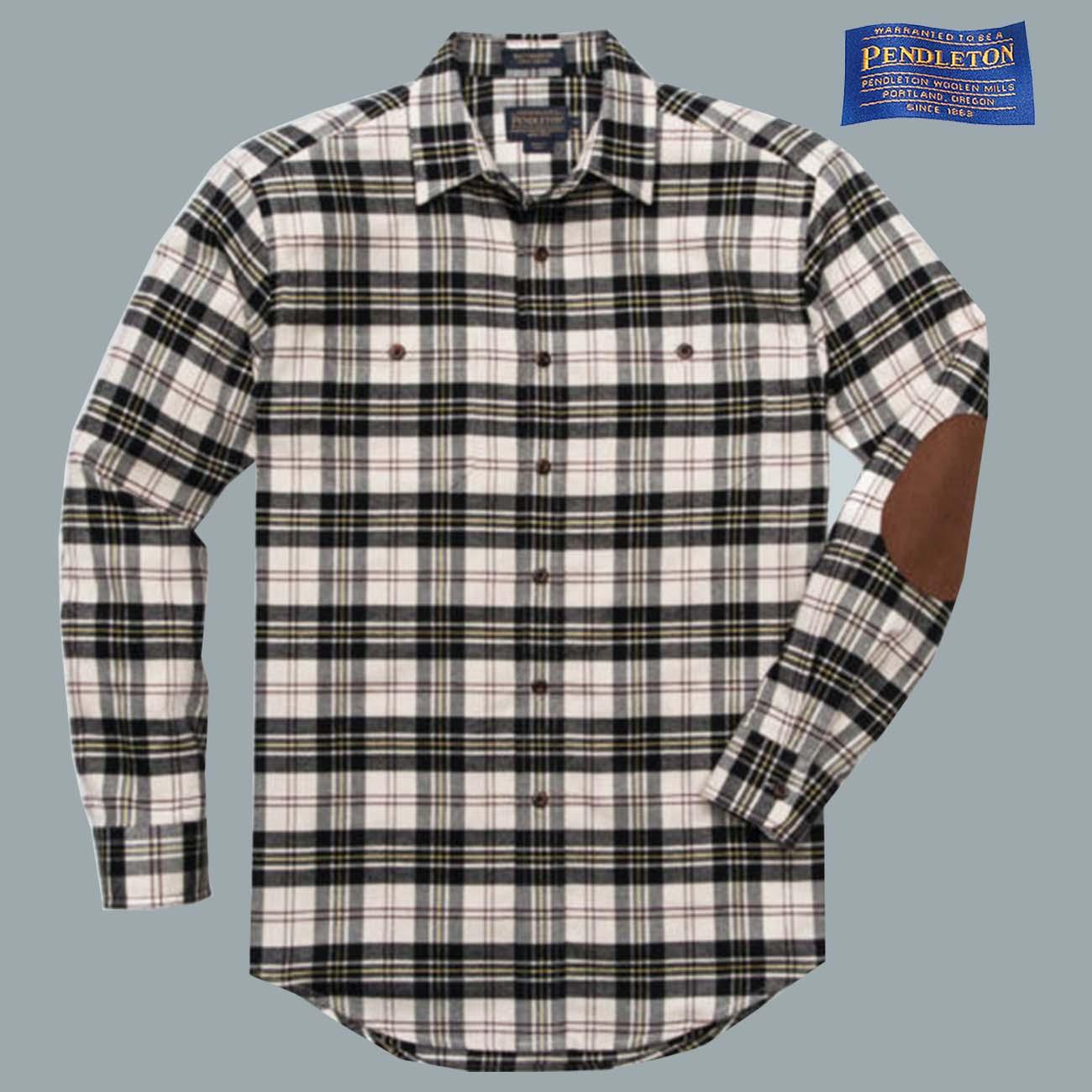 画像1: ペンドルトン エルボーパッチ ホーソーン フランネル シャツS(Macpherson Dress)/Pendleton Hawthorne Flannel Shirt