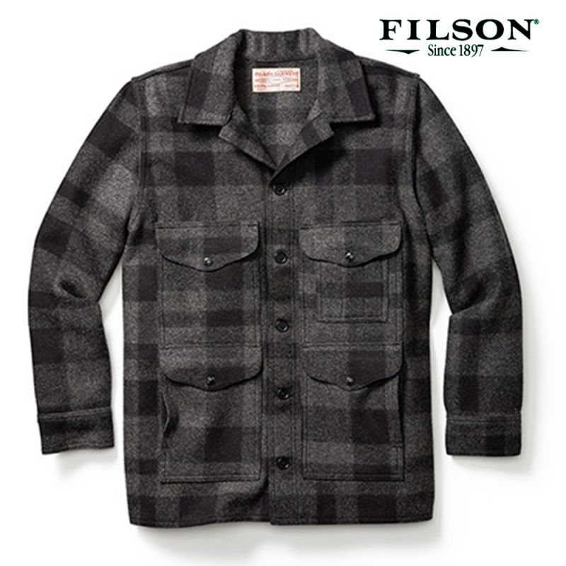 画像1: フィルソン マッキーノ クルーザー(グレー×ブラック)/Filson Mackinaw Cruiser(Gray×Black)