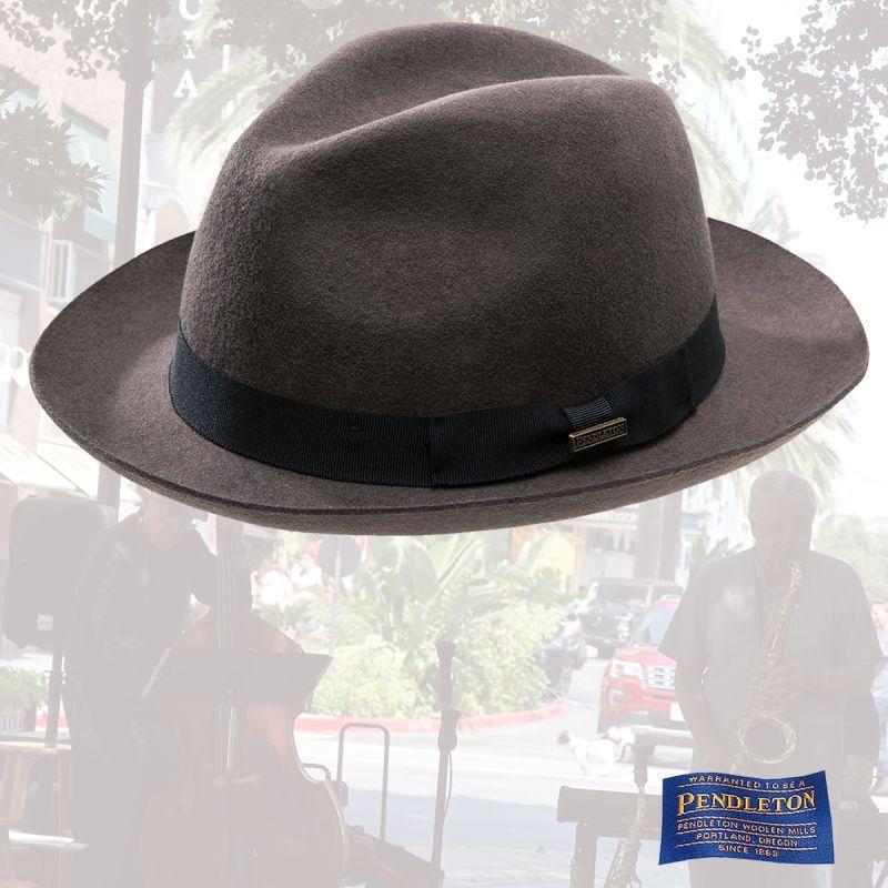 画像1: ペンドルトン クラシック フェドラ ハット(ダークグレー)L/Pendleton Classic Fedora Hat Dark Grey