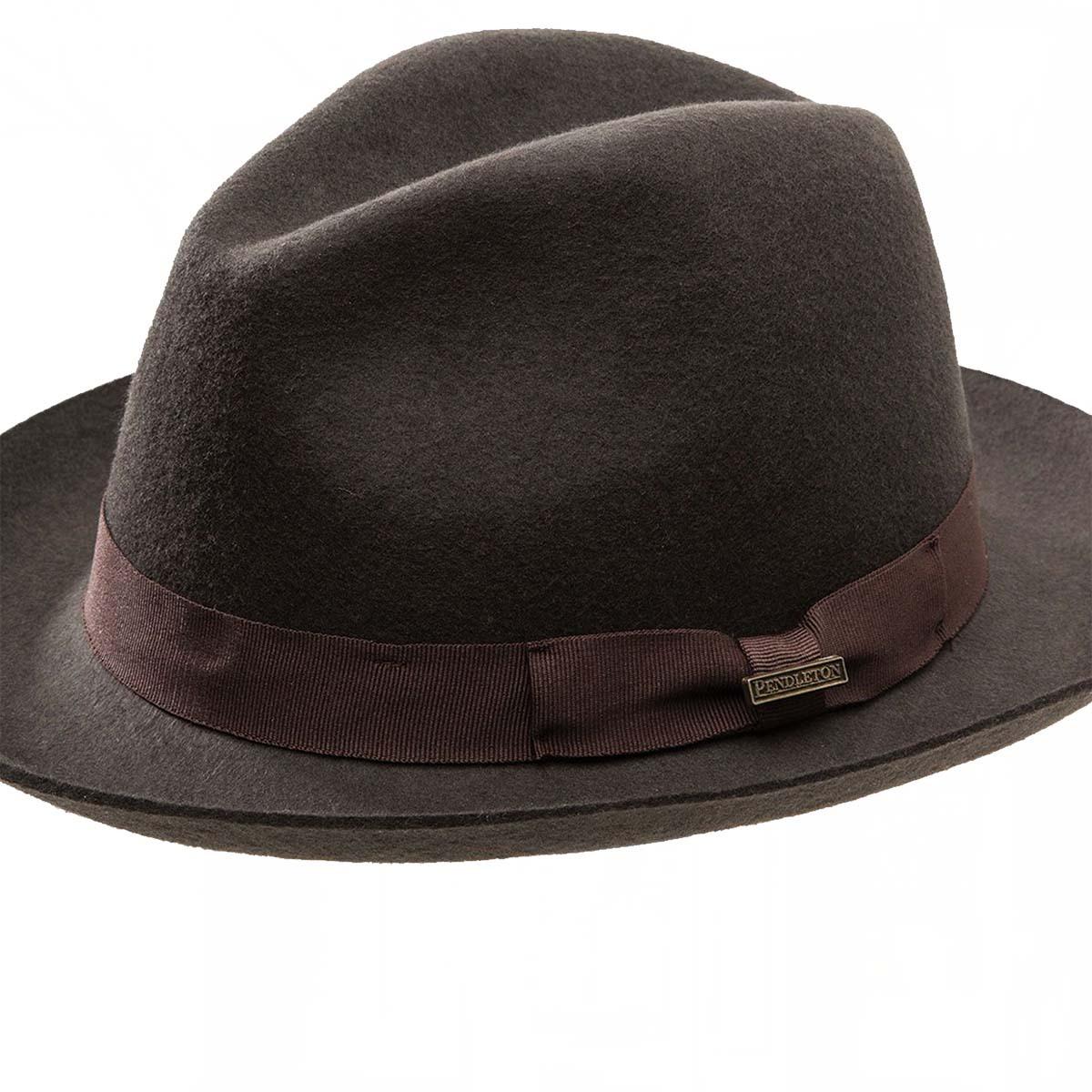 画像2: ペンドルトン クラシック フェドラ ハット(チョコレートブラウン)/Pendleton Classic Fedora Hat Chocolate Brown