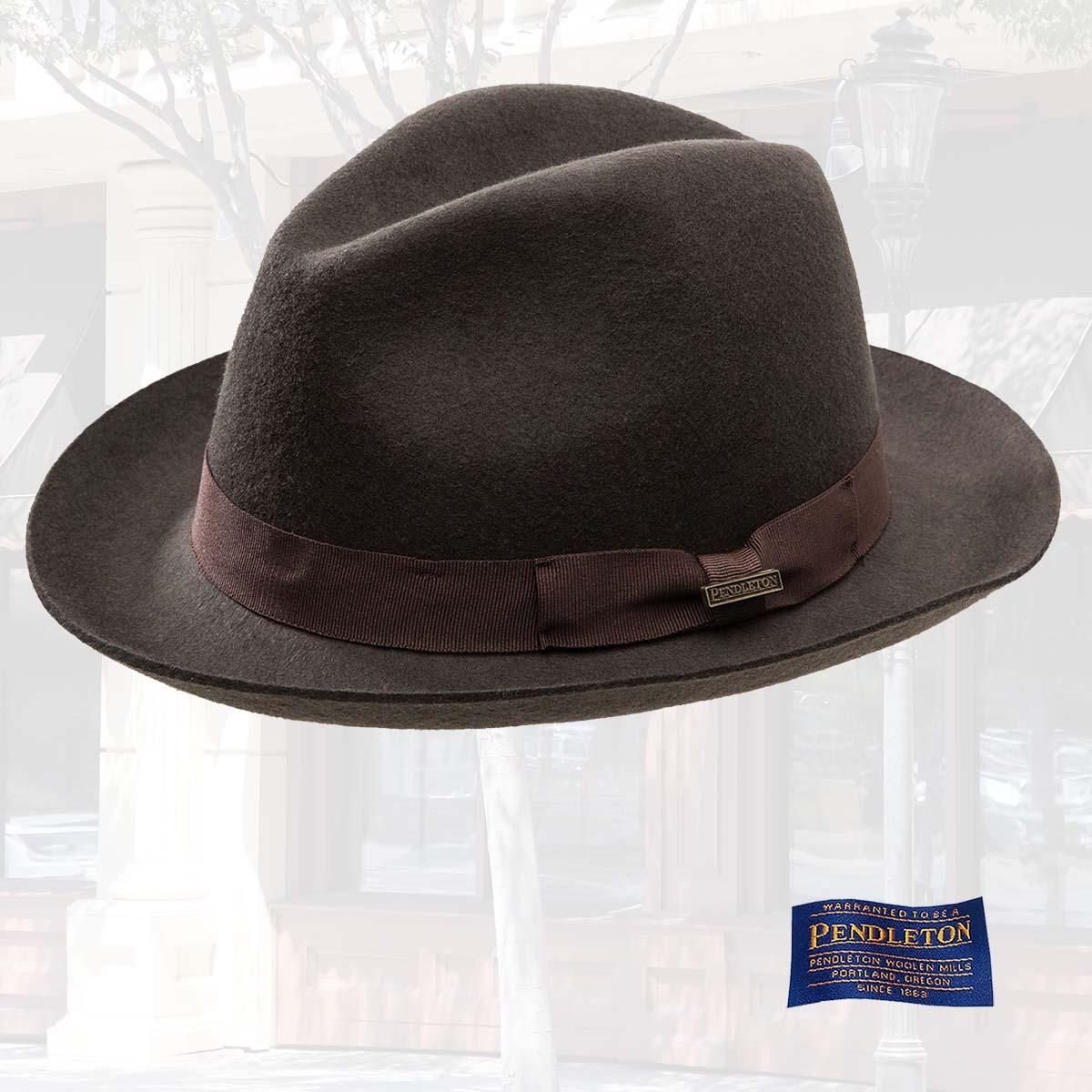 画像1: ペンドルトン クラシック フェドラ ハット(チョコレートブラウン)/Pendleton Classic Fedora Hat Chocolate Brown