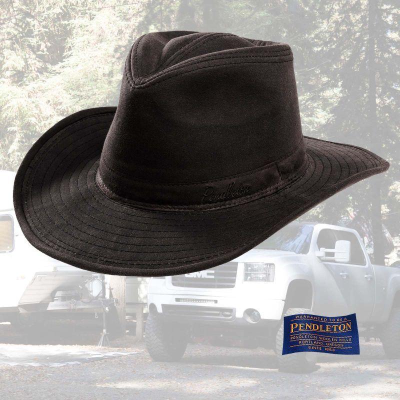画像1: ペンドルトン ワックスコットン アウトバック ハット(ブラウン)XL/Pendleton Waxed Cotton Outback Hat(Brown)