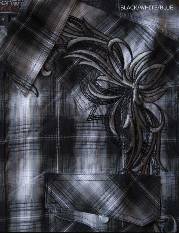 画像2: ロックンロールカウボーイ 刺繍 ウエスタンシャツ ブラック(長袖)M/Panhandle Slim Long Sleeve Western Shirt
