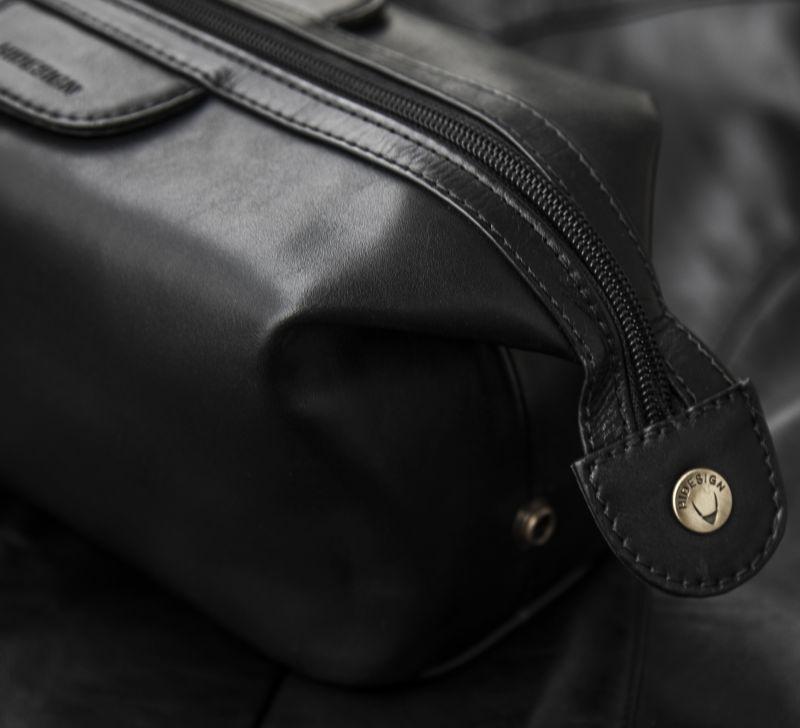 画像2: スカリー レザー トラベルキット ケース(ブラック)/Travel Kit(Black)