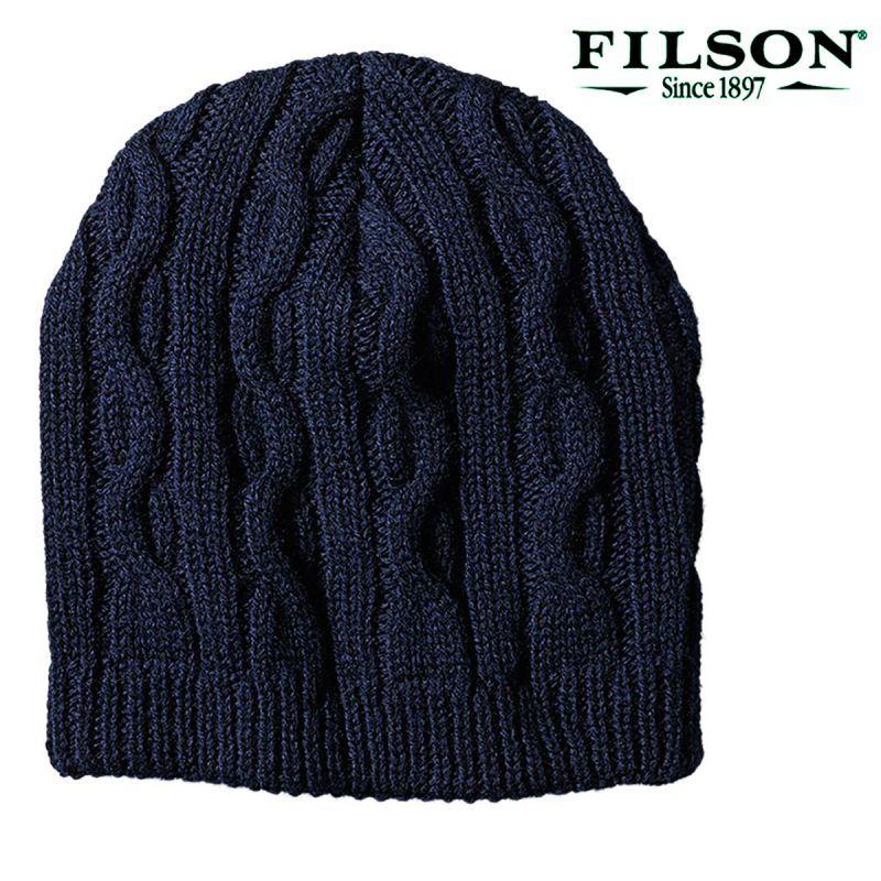 画像1: フィルソン バージンウール ヘビー ニット キャップ(ネイビー)/Filson Heavy Knit Cap