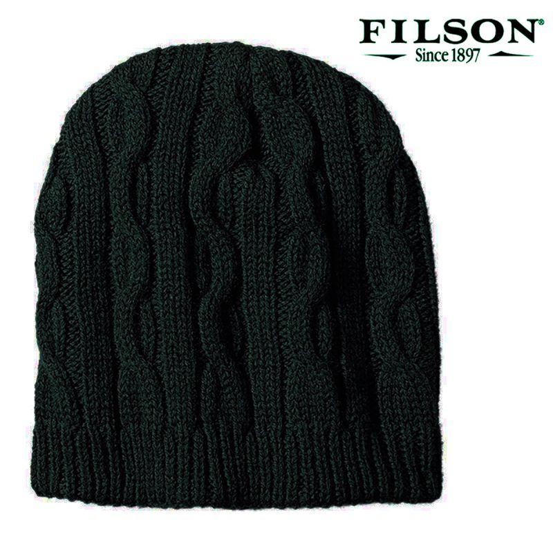 画像1: フィルソン バージンウール ヘビー ニット キャップ(フィルソングリーン)/Filson Heavy Knit Cap