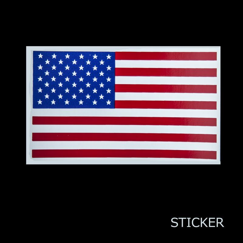 画像1: ビニール ステッカー アメリカ国旗/Sticker
