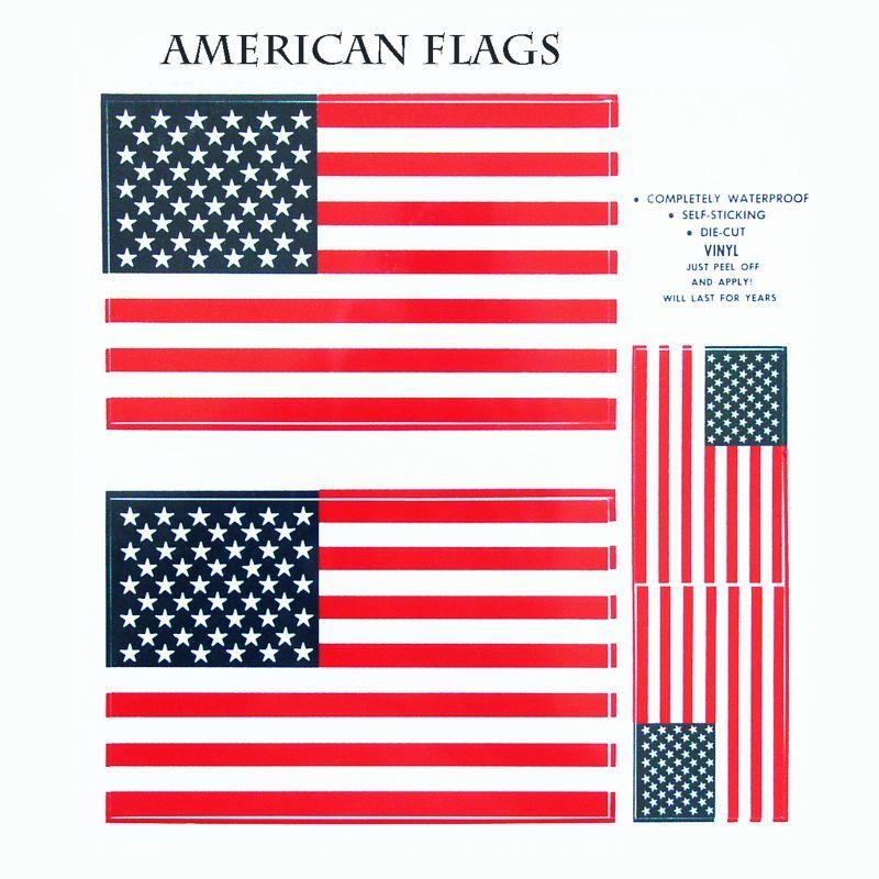 画像1: アウトドア仕様 防水ステッカー American Flags