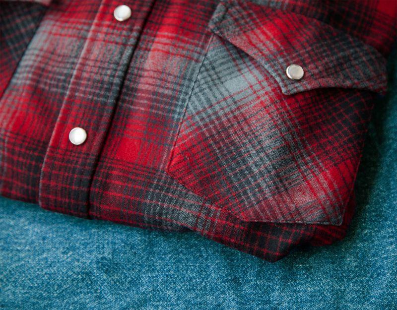 画像2: ペンドルトン ウエスタンシャツ(レッド・ブラック)/Pendleton Western Shirt
