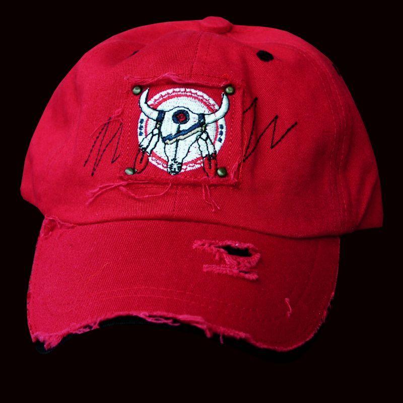 画像1: ネイティブプライド ビンテージキャップ レッド・ブラック/Native Pride Cap(Red/black)