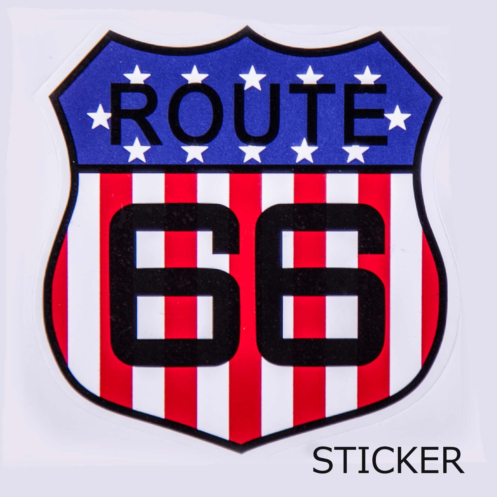 画像1: ビニール ステッカー ルート66・USAフラッグ/Sticker