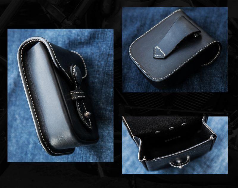 画像2: ファニー レザー ベルトポーチ(インディアン・ブラック)/Funny Belt Pouch(Black)