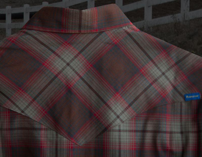 画像3: ペンドルトン サーペンドルトン フィッテッド ウエスタンシャツ(ブラウン・レッドプラッド)/Pendleton Sir Pendleton Western Shirt