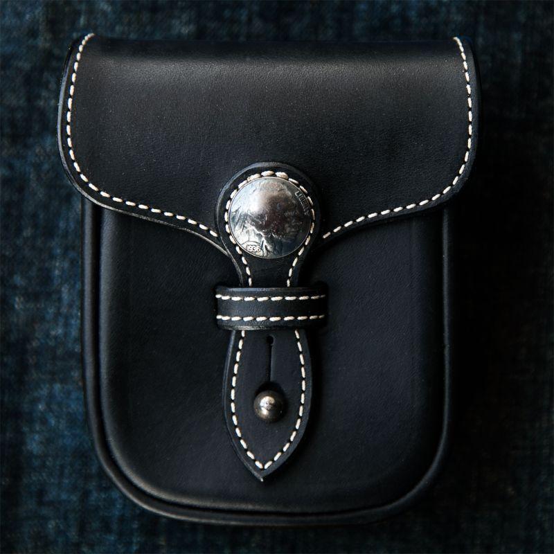 画像1: ファニー レザー ベルトポーチ(インディアン・ブラック)/Funny Belt Pouch(Black)