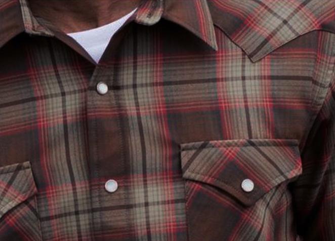 画像2: ペンドルトン サーペンドルトン フィッテッド ウエスタンシャツ(ブラウン・レッドプラッド)/Pendleton Sir Pendleton Western Shirt
