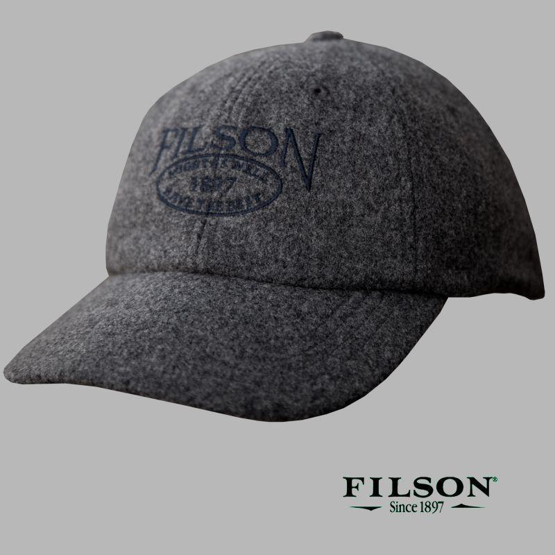 画像1: フィルソン オーバルロゴ キャップ(チャコール)/Filson Wool Cap(Charcoal)