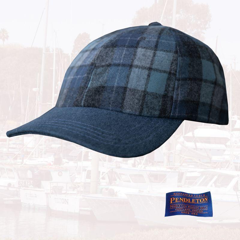 画像1: ペンドルトン 1960s オリジナル ビーチボーイズプラッド キャップ(ブルー)/Pendleton Wool Cap