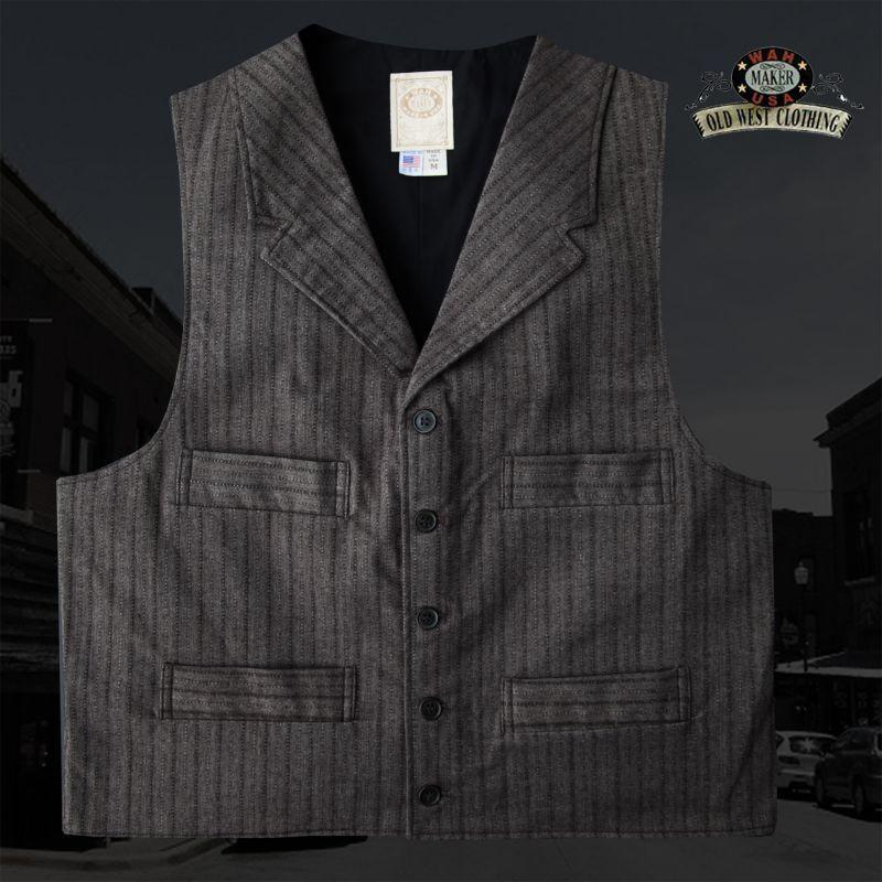 画像1: ワーメーカー フロンティア ベスト(ブラウン)/Wah Maker Old West Vest (Brown)