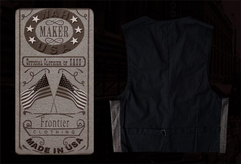 画像2: ワーメーカー フロンティア ベスト(ブラウン)/Wah Maker Old West Vest (Brown)