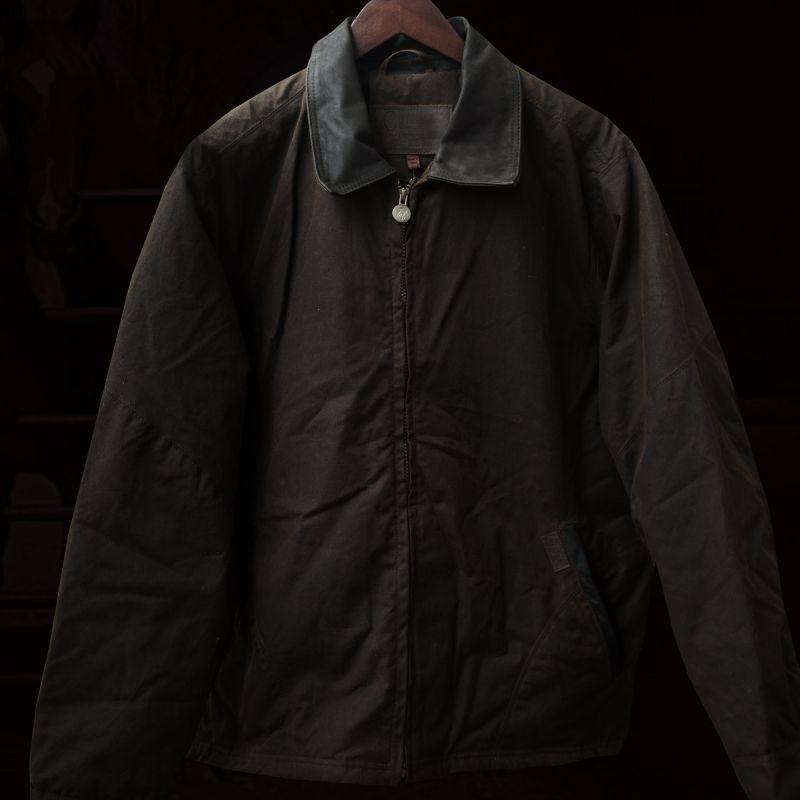 画像1: アウトバック トレーディング オイルスキン ジャケット(ブロンズ)M/Outback Trading Oilskin Jacket